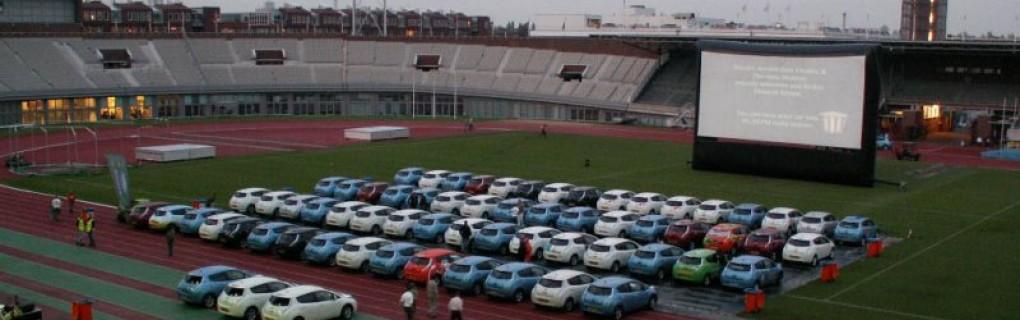 Drive in bioscoop Olympisch stadion Amsterdam