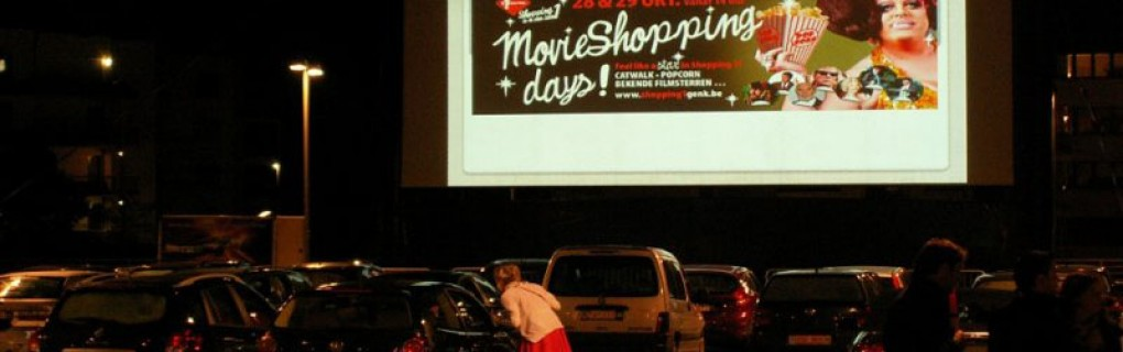Drive in bioscoop Genk Belgie
