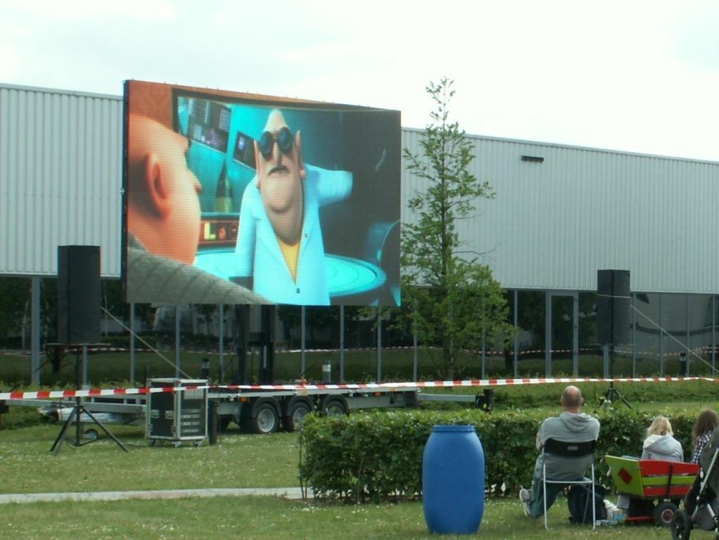 Openluchtbioscoop op LED-scherm